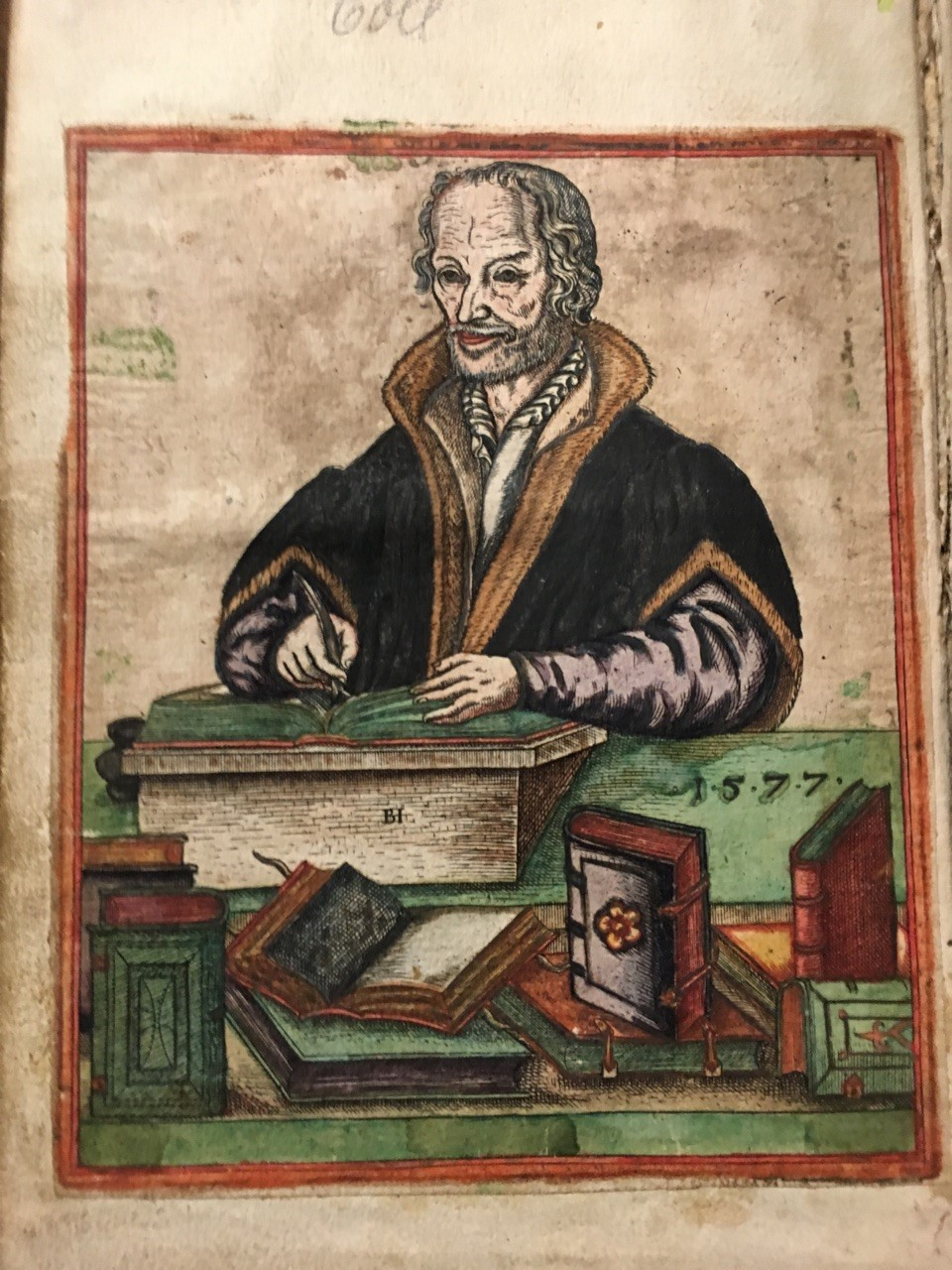 Philip Melanchthon (colored woodcut, 1577)