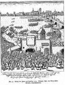 Etching of the Expulsion of the Jews from Frankfurt, August 23, 1614