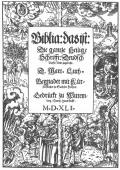 Title page to 1541 edition of the German Bible