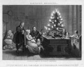 Victorian-era image of Martin Luther at Christmas.